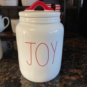 Rae Dunn Joy canister